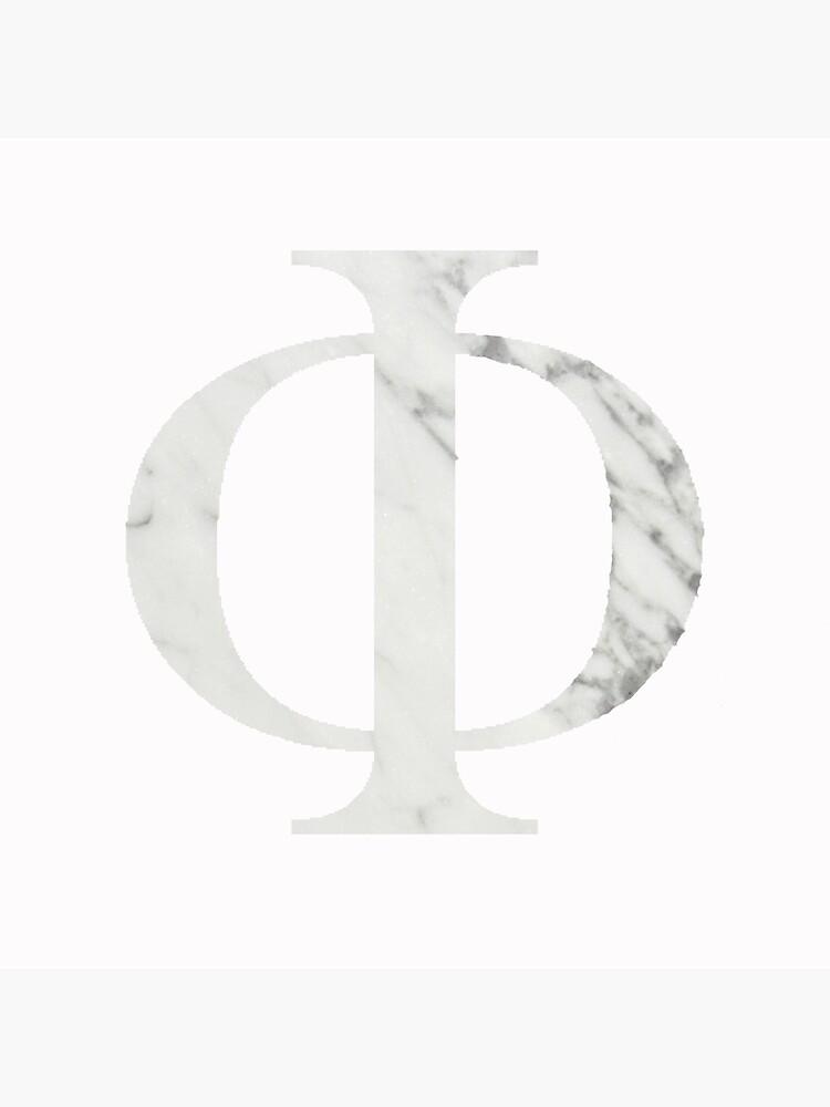 Marmor griechischen Phi von allyhirsh