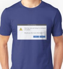 Warning Message - Windows pop-up Computer simulation Unisex T-Shirt