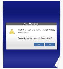 Warning Message - Windows pop-up Computer simulation Poster