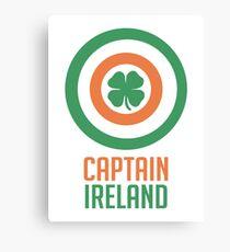 Captain Ireland – America, Shield Canvas Print