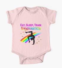 EAT SLEEP TRAIN GYMNASTICS One Piece - Short Sleeve