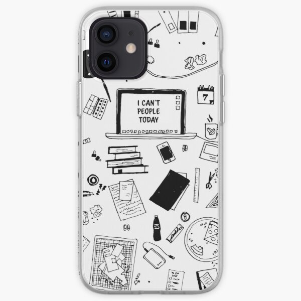 I Can't People Today iPhone Soft Case