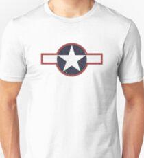 Vintage Look US Forces Roundel 1943 Unisex T-Shirt