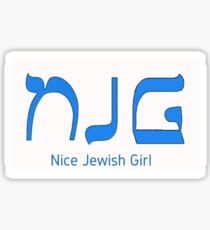 Nice Jewish Girl Sticker