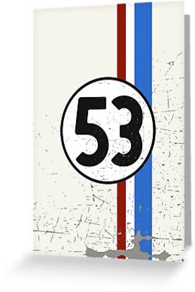 Vintage Look 53 Car Race Number Graphic by VintageSpirit