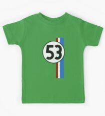 Vintage Look 53 Car Race Number Graphic Kids Tee