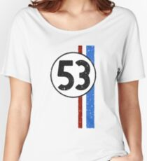 Vintage Look 53 Car Race Number Graphic Women's Relaxed Fit T-Shirt