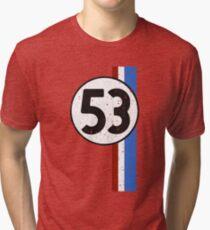 Vintage Look 53 Car Race Number Graphic Tri-blend T-Shirt
