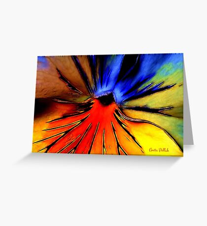 Far Out Pansy Greeting Card