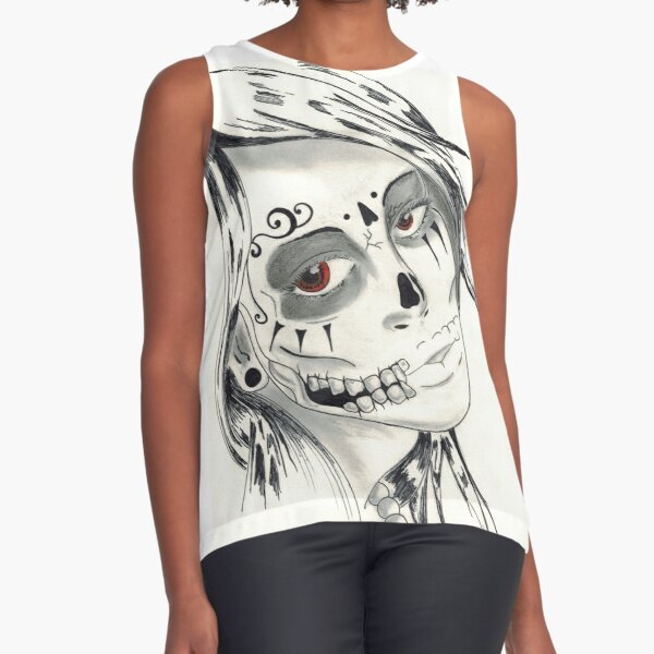 Sugar Skull Sleeveless Top