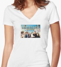 Community The Movie Women's Fitted V-Neck T-Shirt