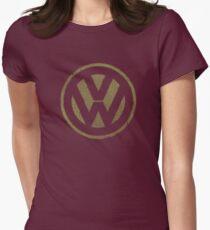 Vintage Look Volkswagen Logo Design Womens Fitted T-Shirt