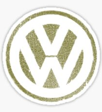 Vintage Look Volkswagen Logo Design Sticker