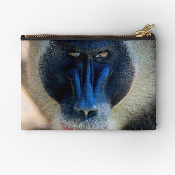 monkey looking right Zipper Pouch