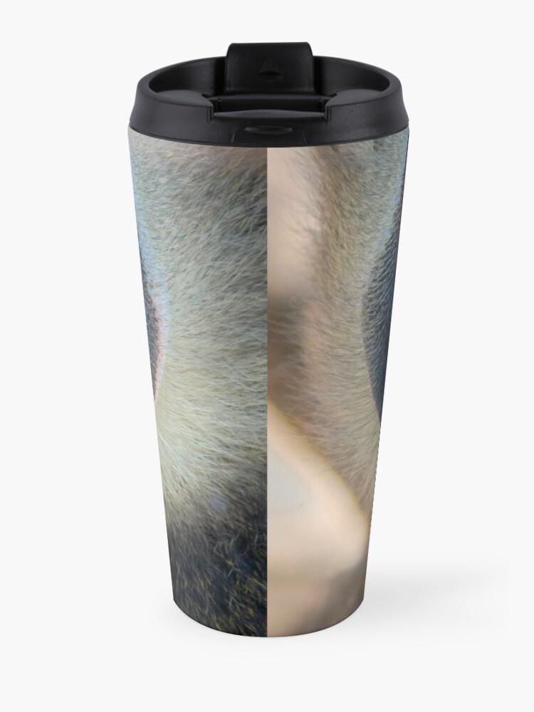 Alternate view of monkey looking right Travel Mug