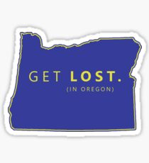 Get Lost in Oregon OR State Sticker
