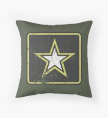 Vintage Look US Army Star Logo  Throw Pillow