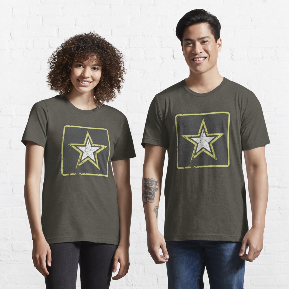 Vintage Look US Army Star Logo  Essential T-Shirt