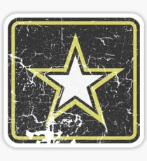 Vintage Look US Army Star Logo  Sticker