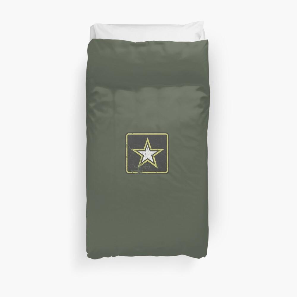 Vintage Look US Army Star Logo  Duvet Cover
