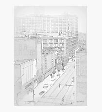 Cityscape 2 Drawing Photographic Print