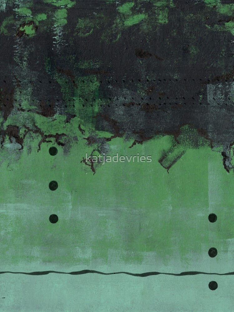 Abstract green nature print by katjadevries