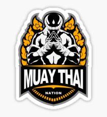 Muay Thai Nation - Thailand martial Art - Honored Fighter Sticker