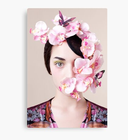 Orchid Mask Canvas Print