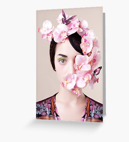 Orchid Mask Greeting Card