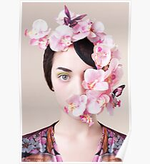 Orchid Mask Poster