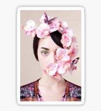 Orchid Mask Sticker