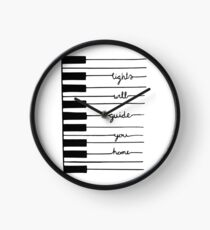 Piano keys-Lights will guide you home Clock