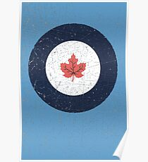 Vintage Look WW2 Royal Canadian Air Force Roundel Poster