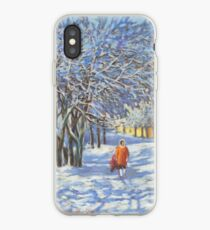 A walk by the winter park iPhone Case
