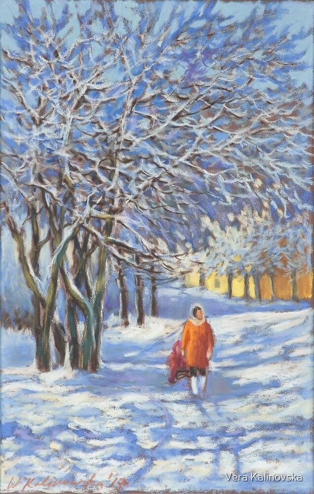 A walk by the winter park by Vira Kalinovska