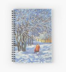 A walk by the winter park Spiral Notebook