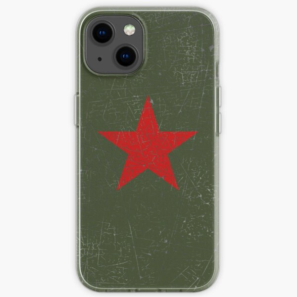 Vintage Look Russian Red Star iPhone Soft Case