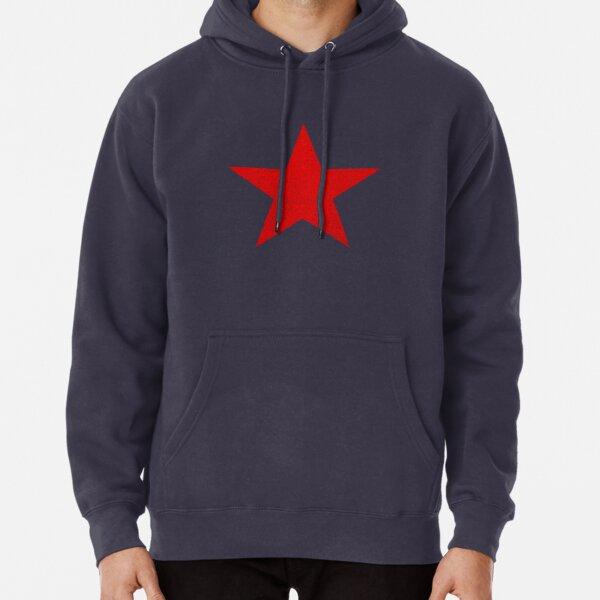 Look vintage estrella roja rusa Sudadera con capucha