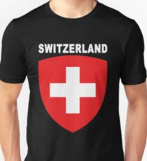 Swiss National Suisse Design - HD Switzerland Style Unisex T-Shirt