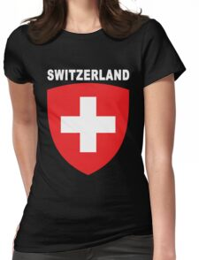 Swiss National Suisse Design - HD Switzerland Style Womens Fitted T-Shirt