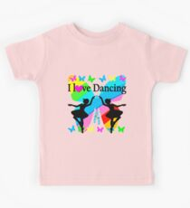 PRETTY I LOVE DANCING BUTTERFLY DESIGN Kids Clothes