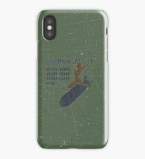 Vintage Look Bombs Away Pin-up Girl Art iPhone Case/Skin