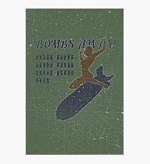 Vintage Look Bombs Away Pin-up Girl Art Photographic Print