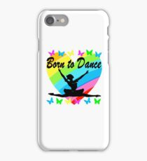 PRETTY RAINBOW HEART BORN TO DANCE DESIGN iPhone Case/Skin
