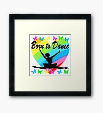 PRETTY RAINBOW HEART BORN TO DANCE DESIGN Framed Print