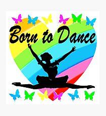 PRETTY RAINBOW HEART BORN TO DANCE DESIGN Photographic Print