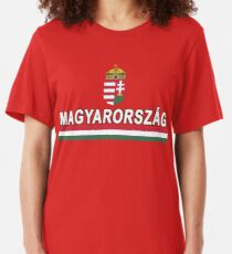 Hungary Team Jersey Design - National Magyarorszag Slim Fit T-Shirt
