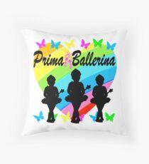 PRETTY PRIMA BALLERINA RAINBOW HEART DESIGN Throw Pillow