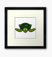 Cartoon Turtle Funny Turtle Shirt Framed Print
