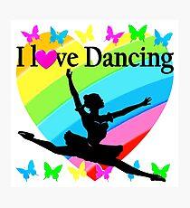 PRETTY RAINBOW HEART I LOVE BALLET DESIGN Photographic Print
